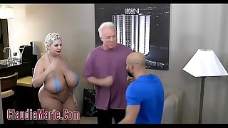 Huge Tit Claudia Marie Tore Up By Two Angry Guys