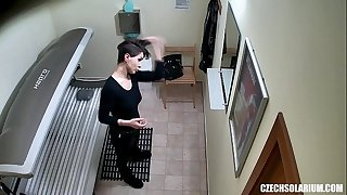 Sexy Short Haired Chick on Hidden Camera