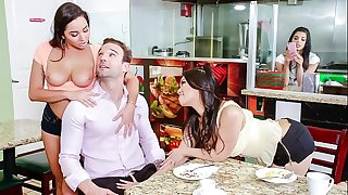 SCAM ANGELS - Naughty gang hook-up with Gina Valentina, Karlee Grey and Cindy Starfall