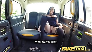 Fake Taxi Sexy ass girl with pierced shaven pussy enjoys cabbies thick cock