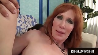 Mature Redhead Freya Fantasia Sucks on a Boner and Then Pounds It