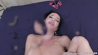 Veronica Avluv squirts all over a cock