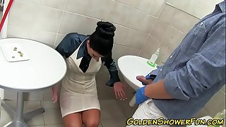 Jizzy faced ho piss public